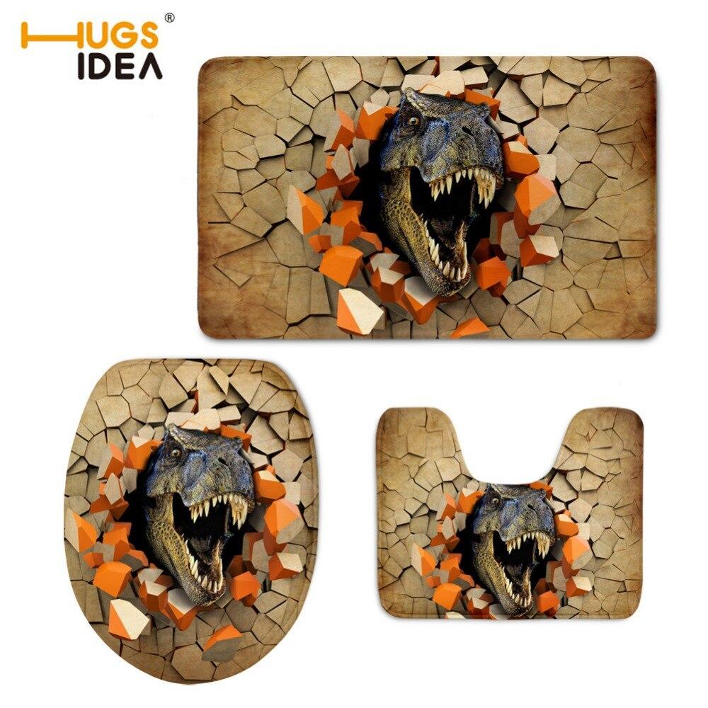 HUGSIDEA 3D Zvířata Dinosaur Koupelna Měkké WC Potah sedadel WC - Výrobky pro domácnost