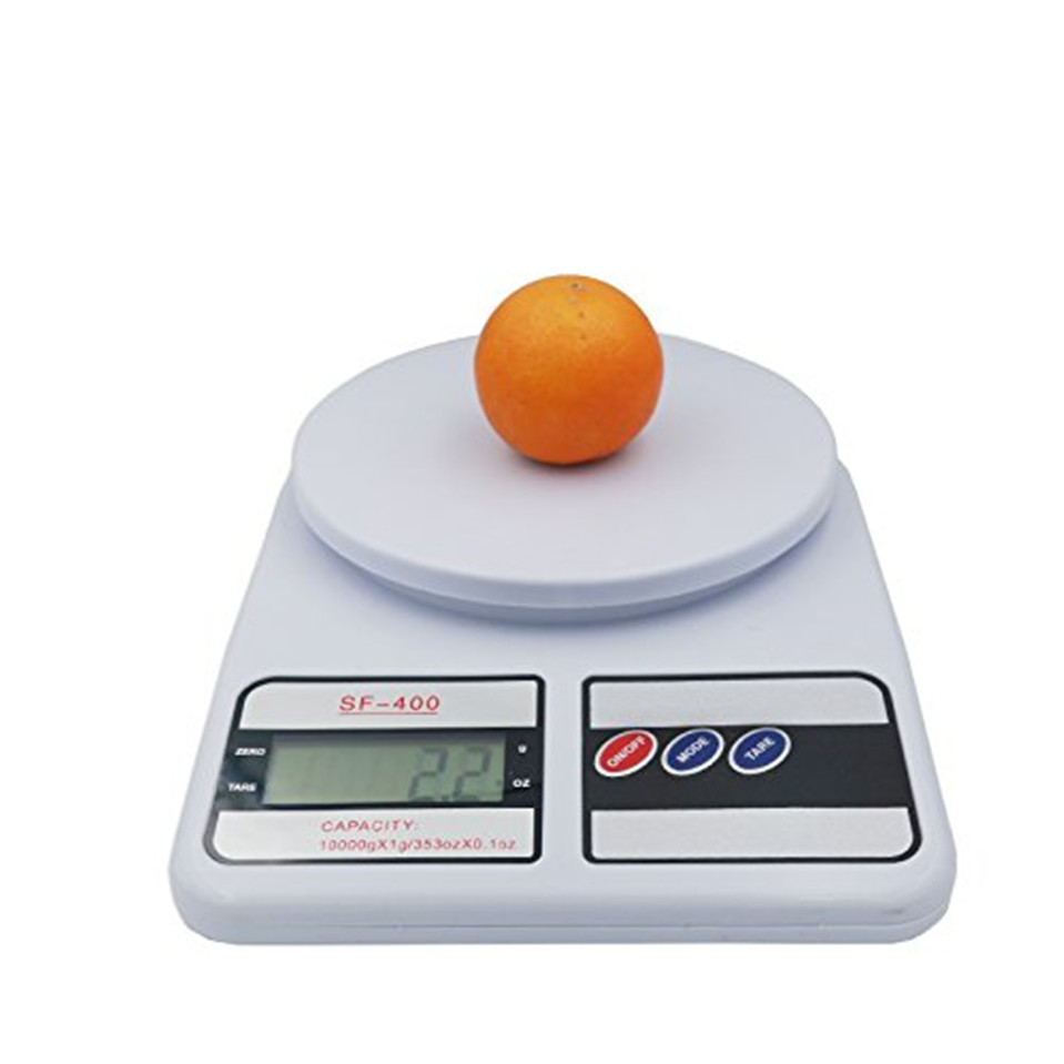 Кухонные весы, цифровые пищевые весы, высокоточные кухонные электронные весы, 10 кг x 1 г SF400-0