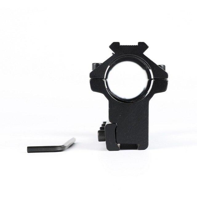 Long 10cm haut profil 11mm pistolet à queue daronde 25.4mm anneaux avec goupille darrêt 20mm Rail pour chasse tactique fusil portée mont