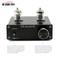 TUBE 01 Digital Car Sound Amplifier Matching Wonder Without Power Adapter Audio Pre Amplifier 6J1 Tube