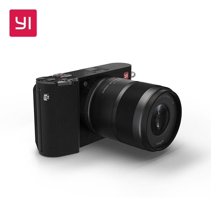 YI M1 Mirrorless Digital Camera International Version Interchangeable Prime Lens 20 MP With LCD Touchscreen Wi Fi Bluetooth In System Cameras
