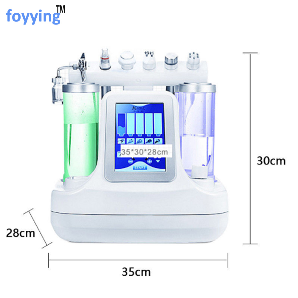 foyying 7 in 1 Vacuum Face Cleaning Hydra Facial Water Oxygen Jet Peel Machine Massage Skin Care BIO light RF Beauty Devicefoyying 7 in 1 Vacuum Face Cleaning Hydra Facial Water Oxygen Jet Peel Machine Massage Skin Care BIO light RF Beauty Device