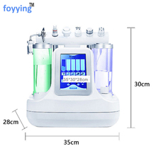 foyying 7 in 1 Vacuum Face Cleaning Hydra Facial Water Oxygen Jet Peel Machine Massage Skin Care BIO light RF Beauty Device