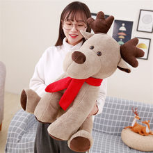 large 60cm lovely Christmas deer plush toy soft doll cartoon reindeer throw pillow Christmas gift w0727(China)