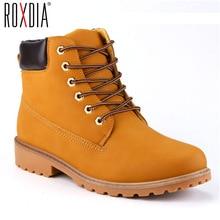 ROXDIA/мужские ботинки из искусственной замши, сезон весна-осень-зима, мужские ботинки, мужские зимние ботинки, Рабочая обувь, большие размеры 39-46, RXM560
