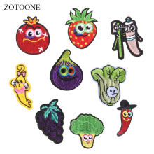 ZOTOONE Fruit Patches Strawberry Stickers Diy Iron on Clothes Heat Transfer Applique Embroidered Applications Cloth Fabric G(China)