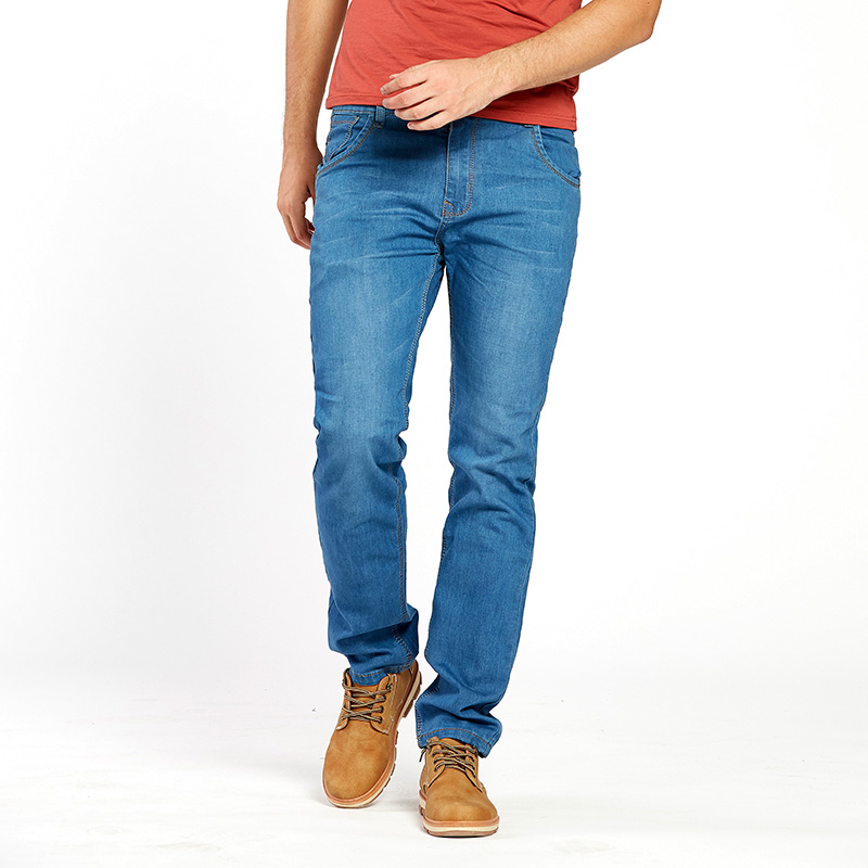 27bd3cda56d Drizzte Lightweight Stretch Jeans Mens Denim Summer light Blue Jeans Black  Blue Jean Fashion 28 35 42 for Mens-in Jeans from Men s Clothing on ...