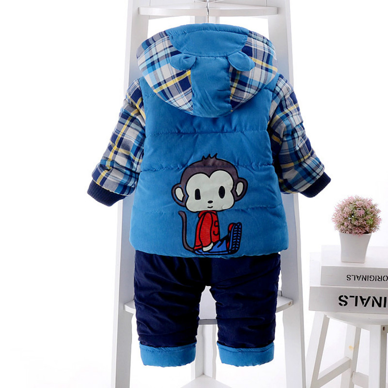 Toddler Boys Down Clothing Sets Winter Coats Jacket Pants
