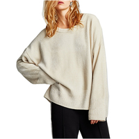 2017 Korean Style Girl Loose Pullover Sweater Autumn Women Knitted Long Sleeve Sweater Basic Office Pullovers