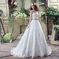 Лидер продаж, элегантные свадебные платья трапециевидной формы с нежным бисером и поясом, Vestido Novia, кружевные свадебные платья, Vestidos Baratos