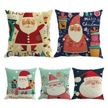 Christmas Linen Pillow Cover