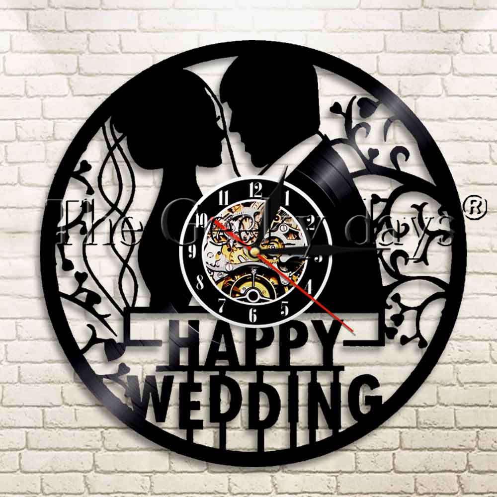 Wedding Clock Gift: 1Piece Happy Wedding Ceremony Couple Marriage Vinyl Record