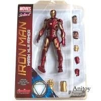 Marvel Select Iron Man MK43 Mark XLIII Armor PVC Action Figure Collectible Model Toy 7 18cm KT067