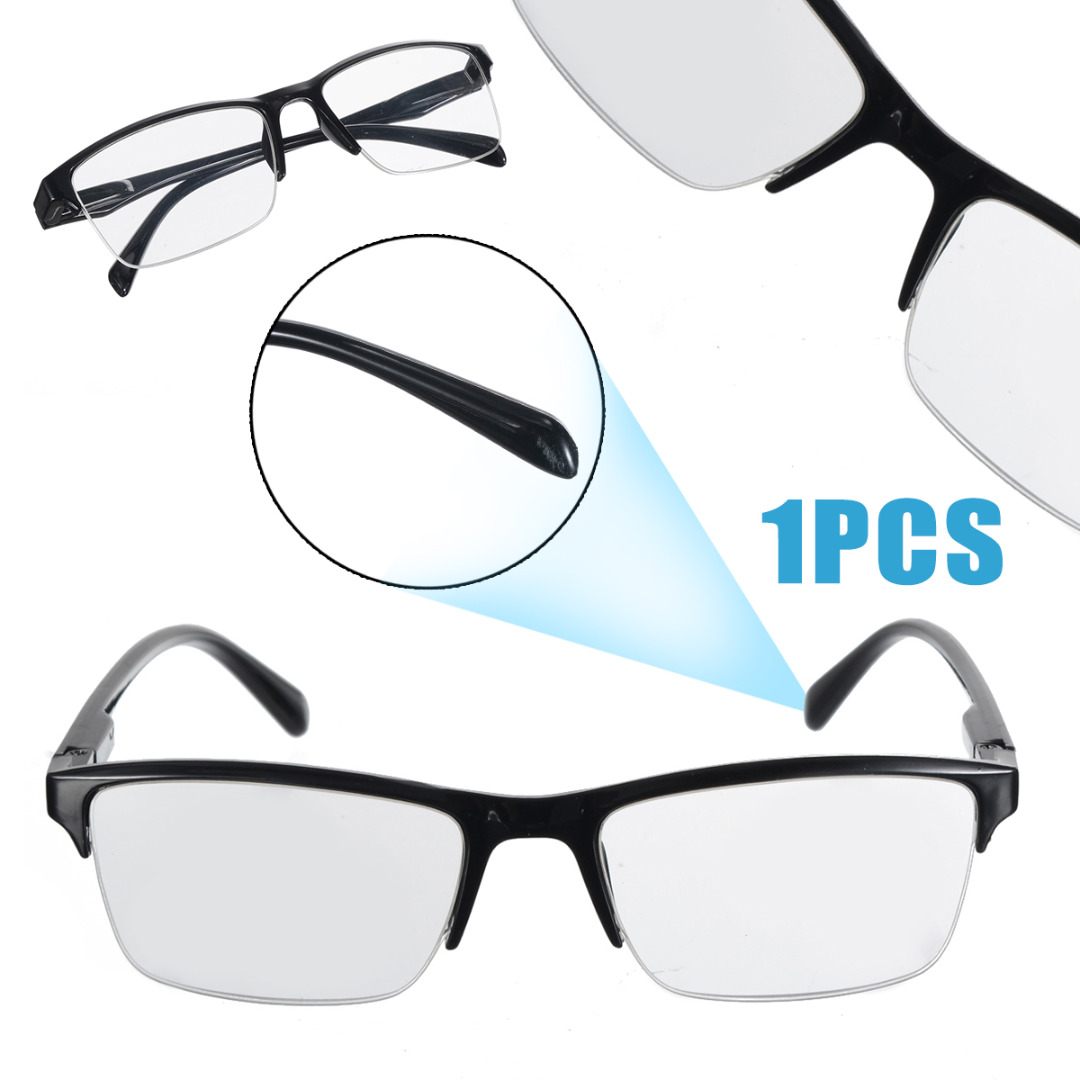 Mayitr 1PC Fashion Unisex Reading Glasses Half Frame Style Transparent Reading Glasses For Eyewear Accessories +0.25 to +4.0