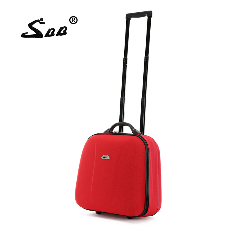 Luggage trolley luggage 16 one-way round male oxford fabric travel bag small bag female small luggage luggage