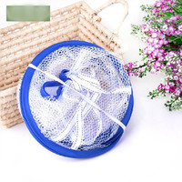 5pcs/lot foldable underwear mesh basket folding lingerie drying hang basket for airing bra net laundry clothes storage product