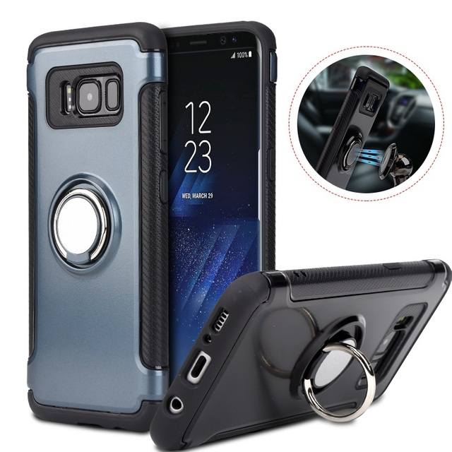 promo code e40b0 da6d7 US $6.32 48% OFF with 360 Finger Ring Holder for Samsung Galaxy S8 S9 Plus  S7 Edge Note 8 9 J3 J5 J7 Cover Case Fits Magnetic Car Suction Stand-in ...