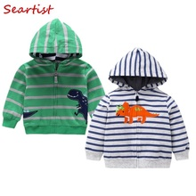 Seartist Baby Boys Hoodie Kids Striped Hooded Sweatshirt Spring Outfit Bebe Coat Boy Clothes 2019 New 30