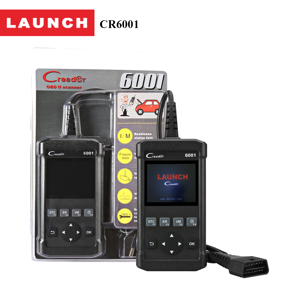 imágenes para CR6001 lanzamiento obd2 lector de código auto escáner 2.8 pulgadas pantalla del coche profesional herramienta de análisis de diagnóstico para audi/seat/subaru/fiat/ford