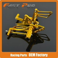 CNC Motorcycle Adjustable Billet Foot Pegs Pedals Rest For SUZUKI GSXR1000 GSX1000R GSXR 1000 2005 2006