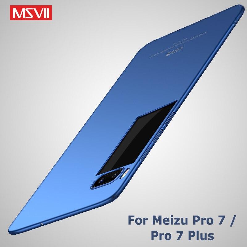 Meizu Pro 7 Case Cover Msvii Brand luxury Silm Meizu 7 Pro Case Meizu Pro 7 Plus Hard PC Scrub Back Cover For Meizu Pro7 Cases
