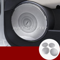 Interior Car Door Speaker Frame Trim Cover 4pcs For Benz C Class W204 2008 2013