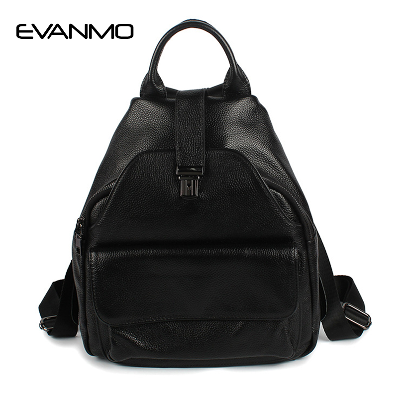 High Quality Daily Daypacks Black Fashion Backpack Women Backpacks Real Leather School Bags for Girls Travel Shoulder Bag Female women genuine leather backpack school bags for girls high quality fashion korean backpacks student bookbag free shipping