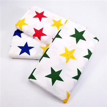 Pentagram Print Cotton Twill Fabric Patchwork Textile Cloth DIY Sewing Quilting Cotton Cloth For Infant Clothing Cotton Fabric