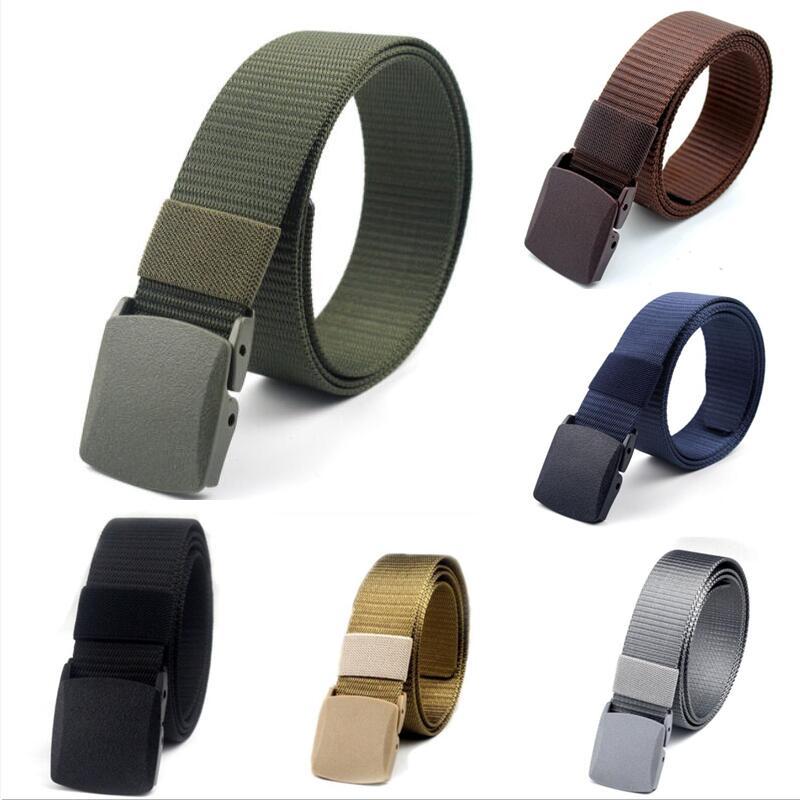 Men's Belt Adjustable Women Belt Men Outdoor Travel Tactical Waist High Quality Automatic Buckle Nylon Unisex Belts Strap 3.8cm