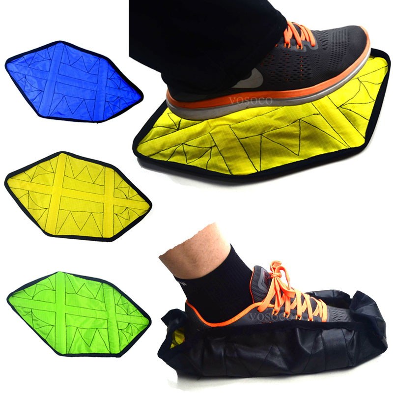 Step in Sock Reusable Shoe Cover One Step Hand Free Sock Shoe Covers Durable Portable Automatic Shoe Covers 2pcs/pair