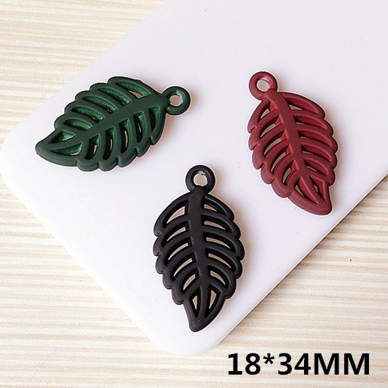 New Arrival Hollow Out Style Leaf Metal Charms Enamel Alloy DIY Jewelry FIndings Floatin ...