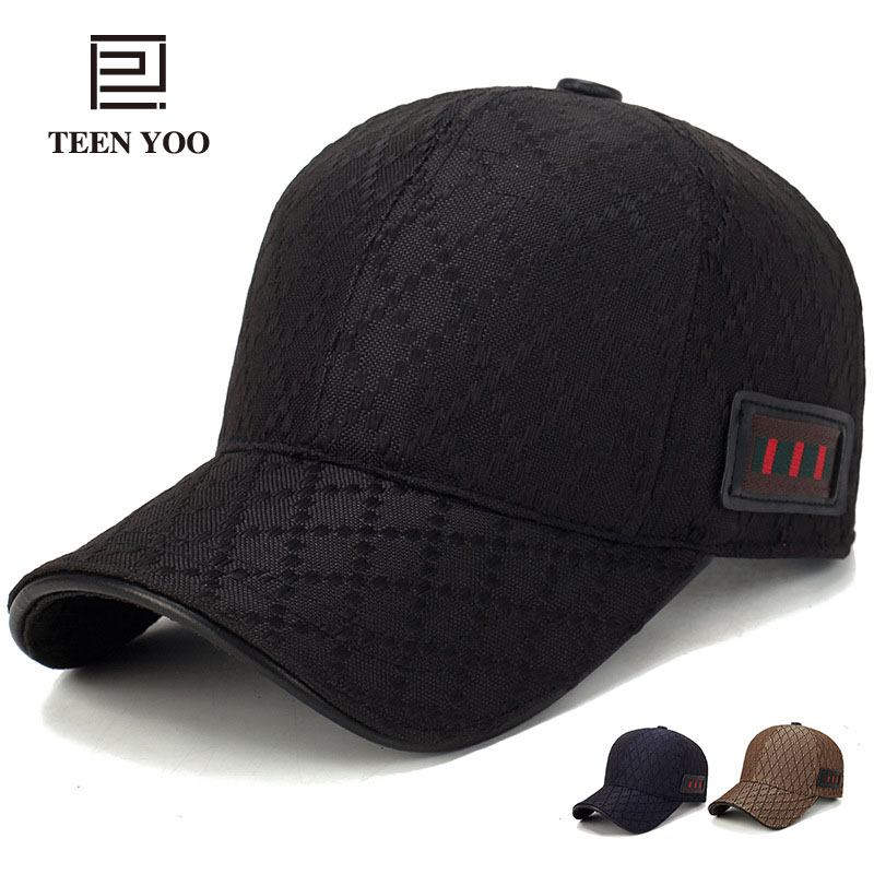 Branded Baseball Cap 2018 New Fashion Lattice Cotton Snapback Caps For Men And Women Casual Sport Sunhat Dad Hats Hip Hop Mujer
