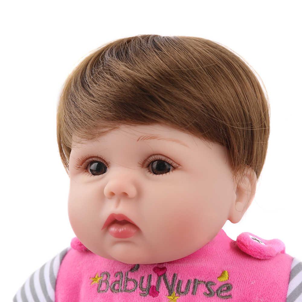 Reborn Baby Doll Lucy 16 inch Soft silicone safe vinyl Cute bebe christmas gift birthday lol toys lifelike beautiful Kaydora