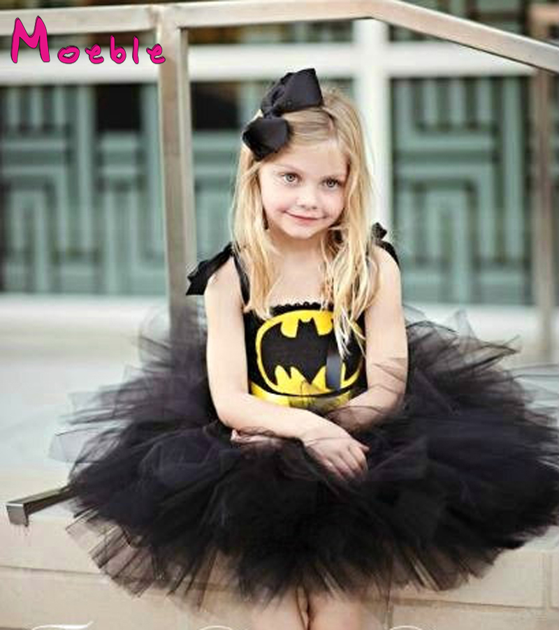 Children Girl Superhero Tutu Dress Little Girl Cosplay Tutu Dress Fancy Clothing For Birthday Halloween&Party Girl Tutu DT-1619 4pcs gothic halloween artificial devil vampire teeth cosplay prop for fancy ball party show