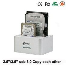"1piece/lot blueendless aluminum sata 2nd hdd ssd caddy usb 3.0 portable hdd box 2.5inch 3.5"" hdd enclosures raid box cover HD07"