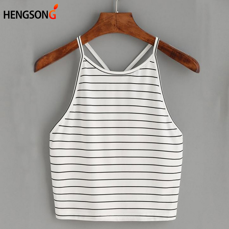 Hengsong 2018 Summer New European and American explosions striped slim camisole 738135