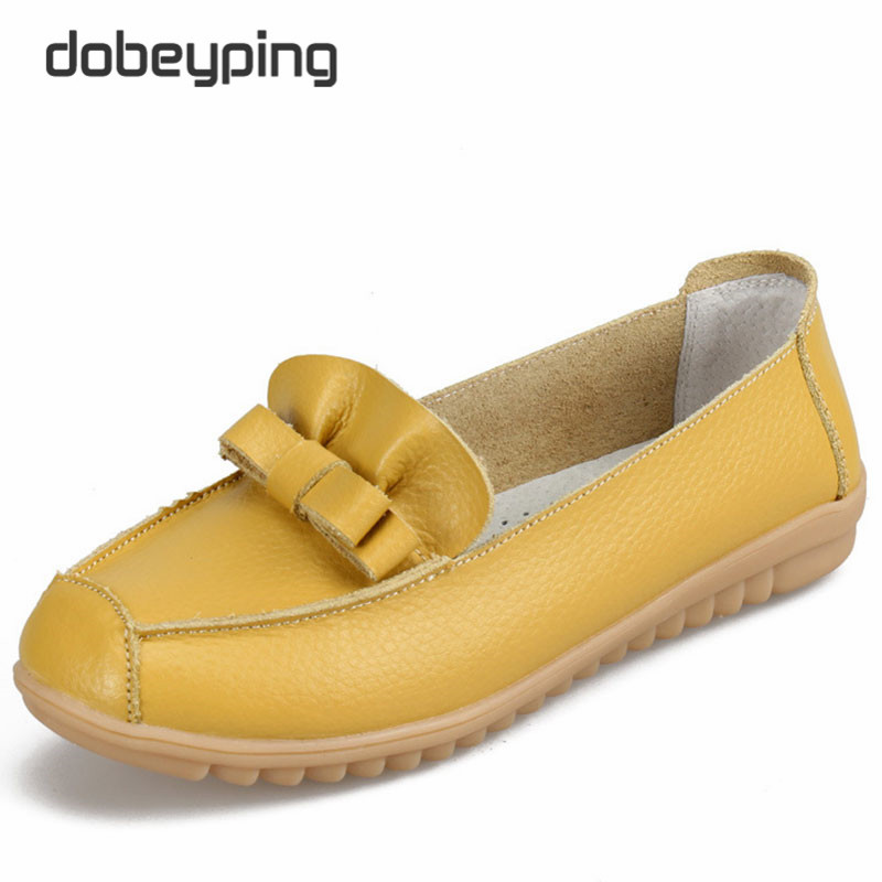 2017 New Women's Casual Shoes Genuine Leather Female Flats Slip-On Woman's Loafers Mother Boat Shoe Soft Driving Shoes Woman hot 2017 genuine leather shoes women flats shoe fashion casual slip on soft loafers spring autumn female driving shoes wholesale