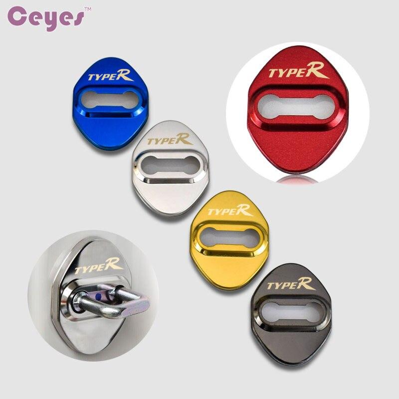 Авточехлы Ceyes, 5 цветов, автомобильный Стайлинг, чехол для Honda Typer Accord CRV Type R, автомобильный стиль, нержавеющая сталь, автомобильные аксессуары...