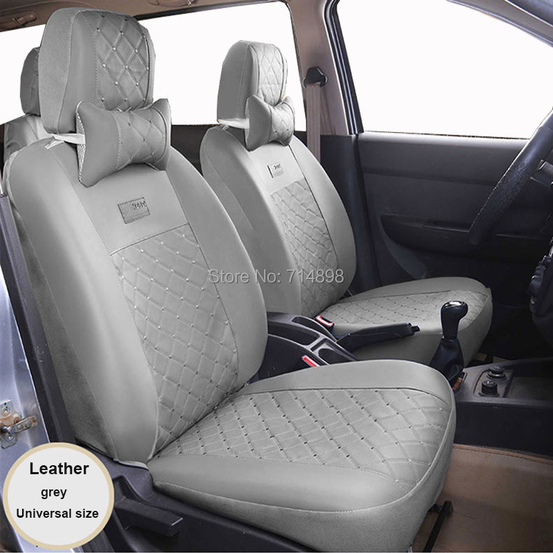 Carnong car seat cover universal leather pu for ford fiesta focus fox mondeo ecosport escape car chair protector cover seat car