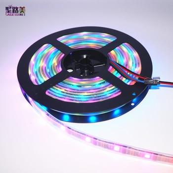 DC5V 5M WS2801 Addressable LED Strip Arduino development ambilight TV 32leds/m 5050 RGB 12mm led Magic Dream Color Rope Light фото