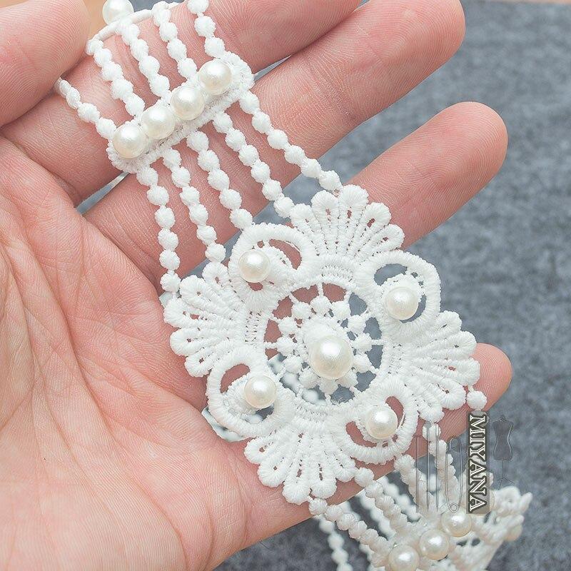 1yard Beaded Sewing Trim Chain Ribbon for Bridal Dress Ornament Craft DIY
