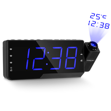 Digital Alarm Clock Projection with Time Temperature Triple FM Radio 3 Dimmers Snooze Setting Sleep Timer