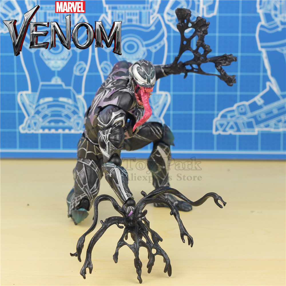 New In Box Marvel Venom 27cm Action Figure KO's PLAY ARTS PA KAI 12 Model Hot Toys Super Hero Spiderman Legends 2018 Tom Hardy free shipping new marvel hot movie play arts pa the red batman pvc action figure statue doll toy 27cm model toys hot sale gs060