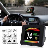 P16 3 Inch LCD HUD obd2 Car Head Up Display Car Intelligent Trip Computer Car Speedometer Hud Display Car electronics