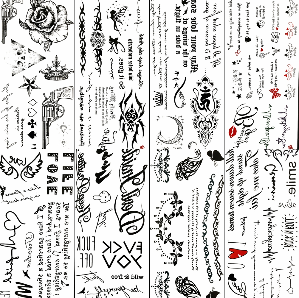 Top 10 Most Popular Black Body Art Tattoo Flowers List And Get Free Shipping 1nem38c9