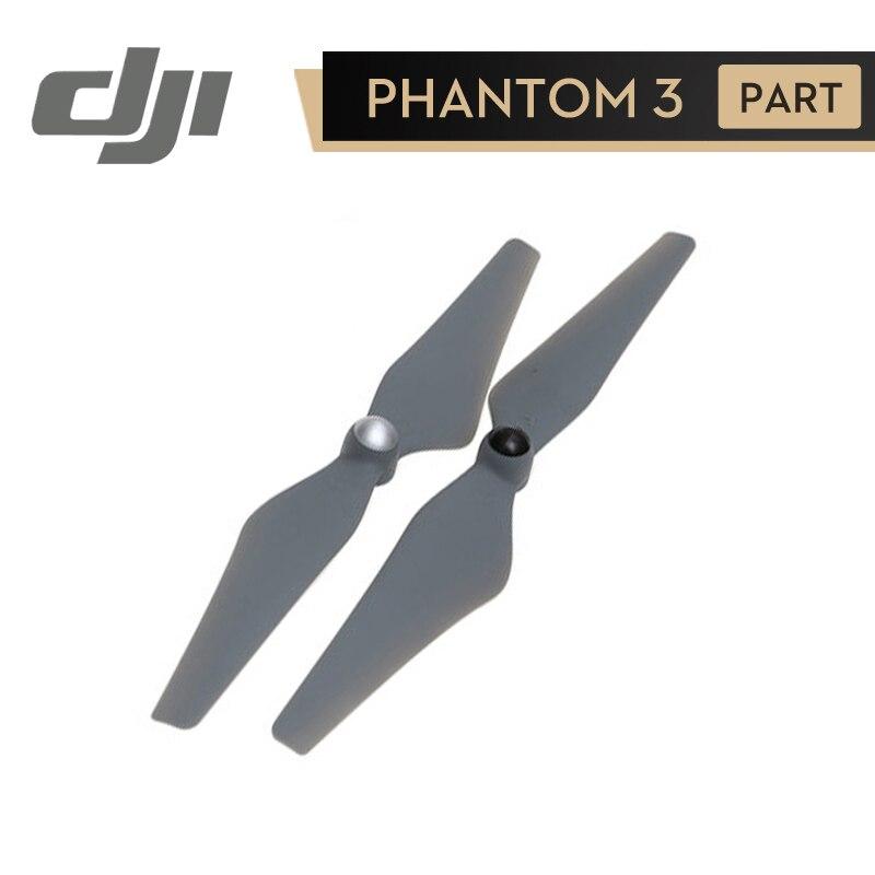 DJI 9450 Hélices Gris (1CW + 1CCW) pour Phantom 3 Série/Flamme Roue/E310/E305/E300 Auto Serrage Hélice D'origine