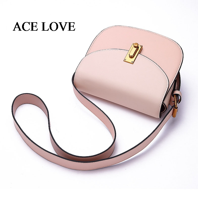 2017 New Arrival Fashion Cow Leather Women Flap Bag Famous Design Brand Hasp Female Crossbody Bag Panelled Ladies  Shoulder Bag new arrival ship pattern design brooch for female