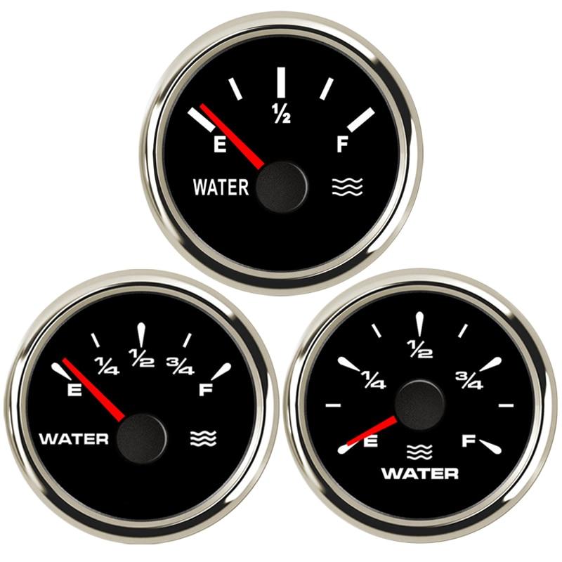 52mm Water Level Gauge Pointer for Car Truck Boat 12-24v Marine Water Level Meter 7 Colors Display Backlight