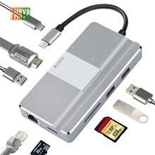 Laptop docking station Alles in een USB C naar HDMI Kaartlezer PD Adapter voor MacBookType C HUB Docking station