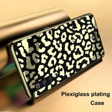 Luxury Wild Plating Phone Case for Xiaomi Mi 8 Lite Mi8 9 SE Cover Plexiglass Silicone Fashion Leopard Soft TPU Cases